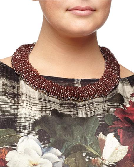 80db0e0bee5 Marina Rinaldi Figurato Printed Georgette Tunic, Lynette Beaded ...