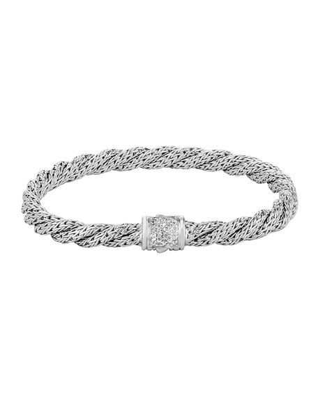 Classic Chain Extra-Small Twisted Chain Bracelet, Size M