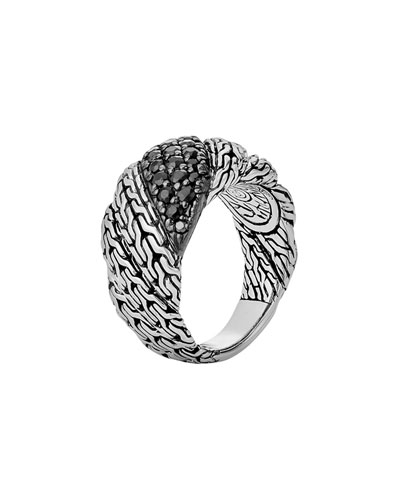 Classic Chain Twisted Lava Ring, Size 7
