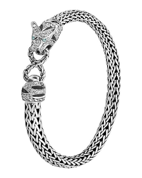 John Hardy Classic Chain Medium Macan Diamond Bracelet,