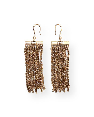 Golden Fringe Drop Earrings