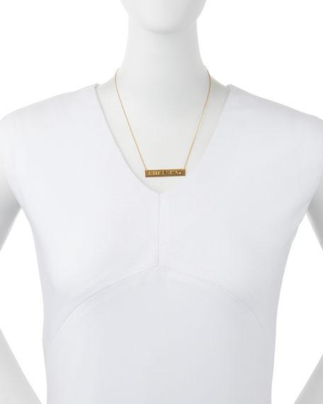 Jennifer Zeuner Harley Personalized Diamond Bar Necklace