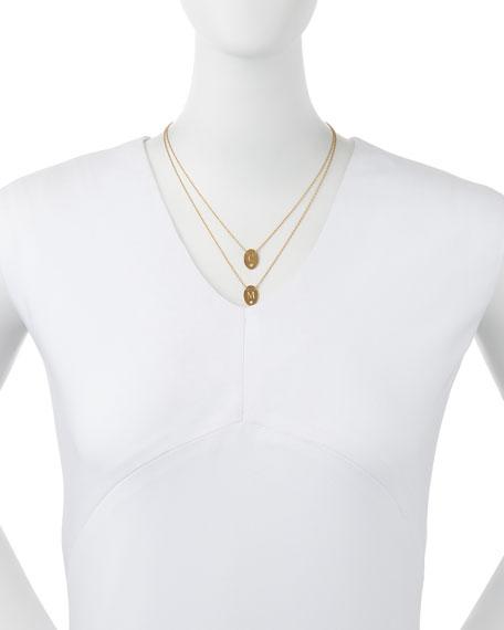 Jennifer Zeuner Double Oval Disc Personalized Necklace
