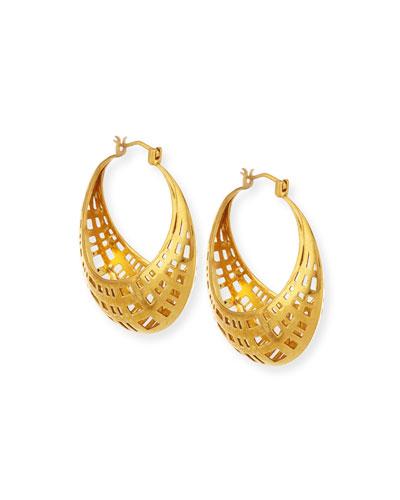 Golden Cage Hoop Earrings