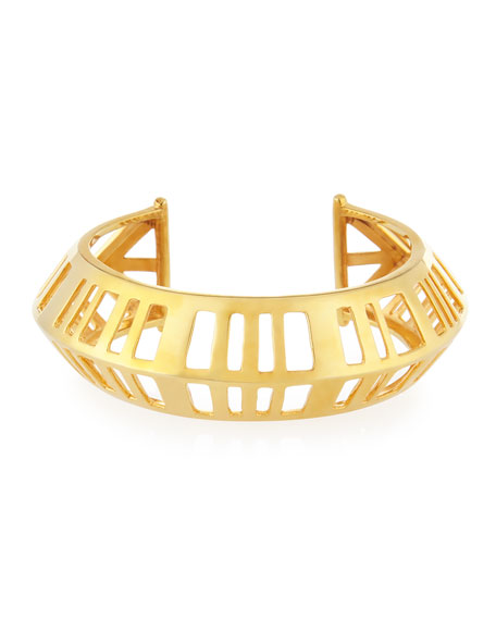 NEST Jewelry Gold-Plated Cage Cuff Bracelet
