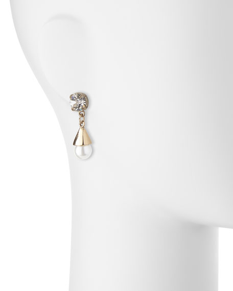 Lustre Glass-Pearl Earrings