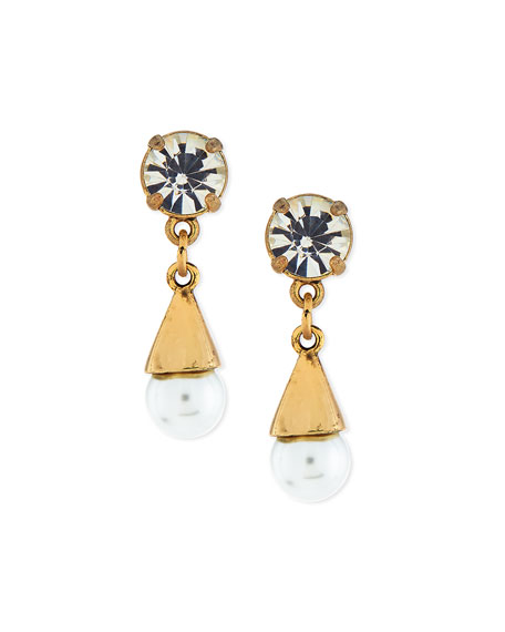Lulu Frost Lustre Glass-Pearl Earrings
