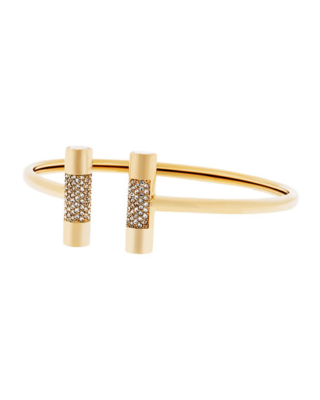 City Barrel Pave Open Cuff