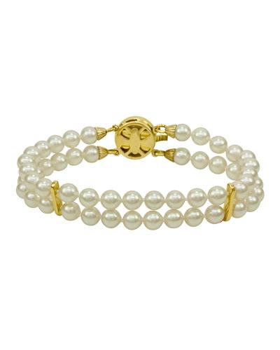 6mm Double-Row Pearl Bracelet