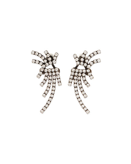 Dannijo Willis Crystal Jacket Earrings