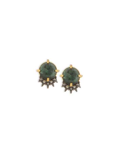 Alexis Bittar Elements Spiked Rose-Cut Crystal Stud Earrings