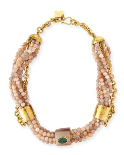 Kike Multi-Strand Beaded Necklace