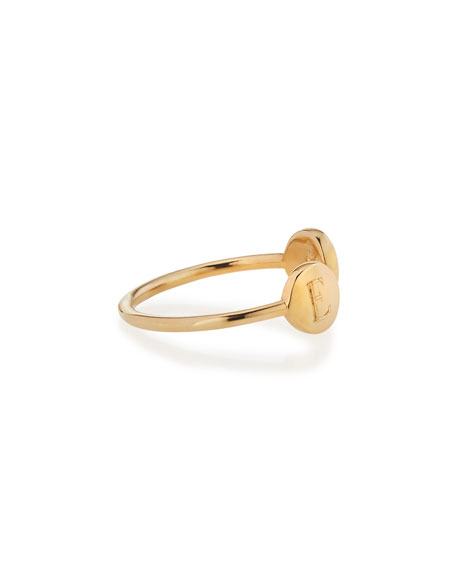 Sarah Chloe Rocha 14k Gold Two-Initial Open Ring