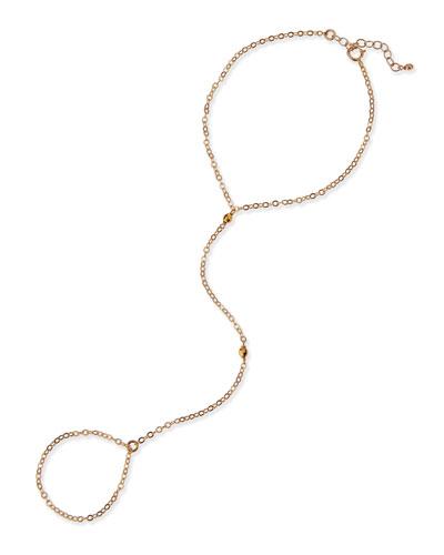 Disco Bead Hand Chain Bracelet