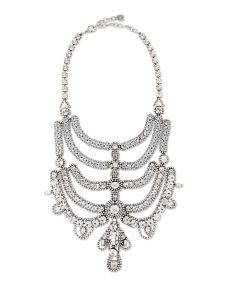 Dannijo Margaux Crystal Bib Necklace