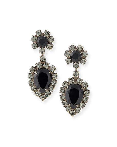 Dannijo Mirabella Jet Crystal Earrings