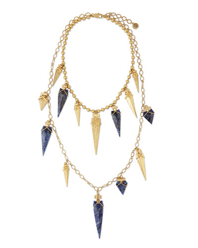 Arrowhead Double-Strand Necklace