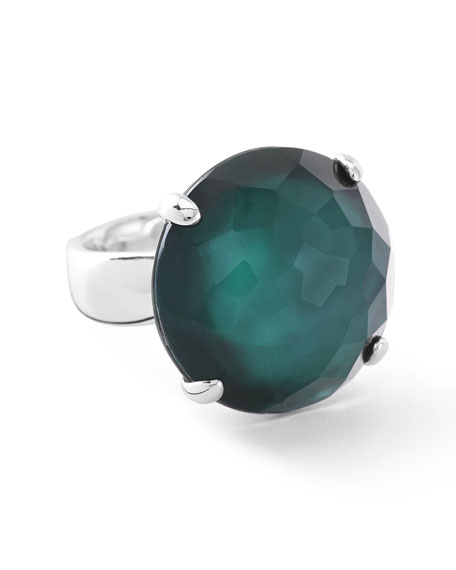 Rock Candy Large Stone Ring in Kelly Doublet