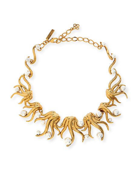 Oscar de la Renta Sea Swirl Statement Necklace,