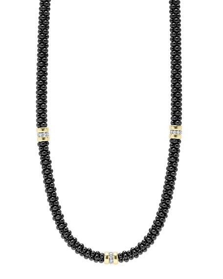 Black Caviar Diamond 3-Station Necklace