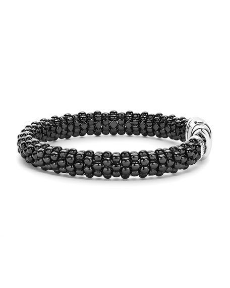 Lagos Black Caviar Rope Bracelet, 9mm