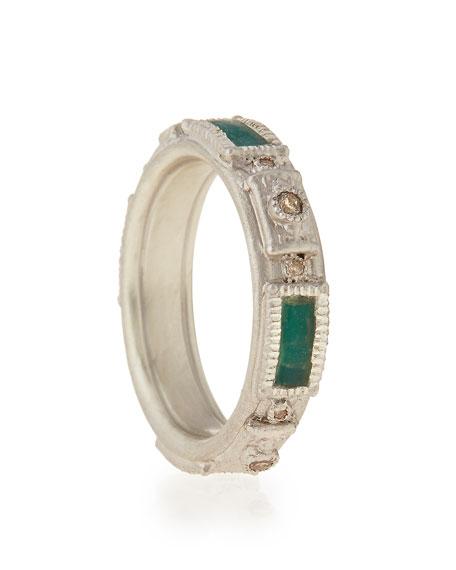 New World Mosaic Champagne Diamond Stack Ring