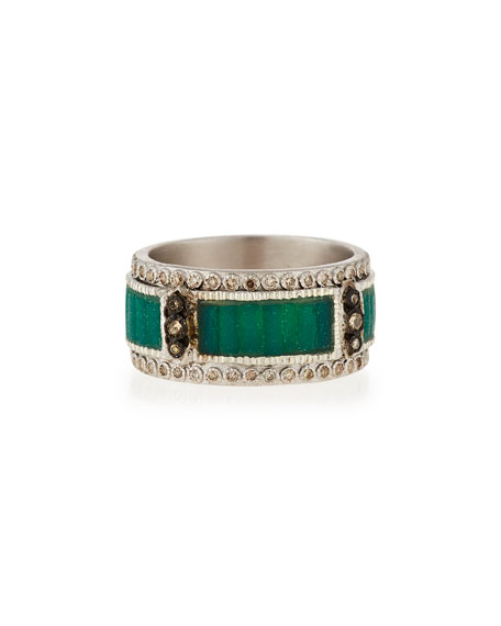 Armenta New World Mosaic Stack Ring with Diamonds