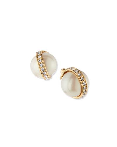 purely pearly floating hoop earrings