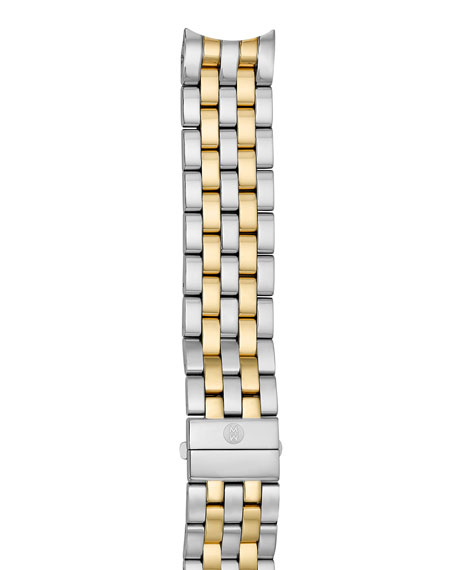 MICHELE 18mm Sport Sail Two-Tone Bracelet Strap
