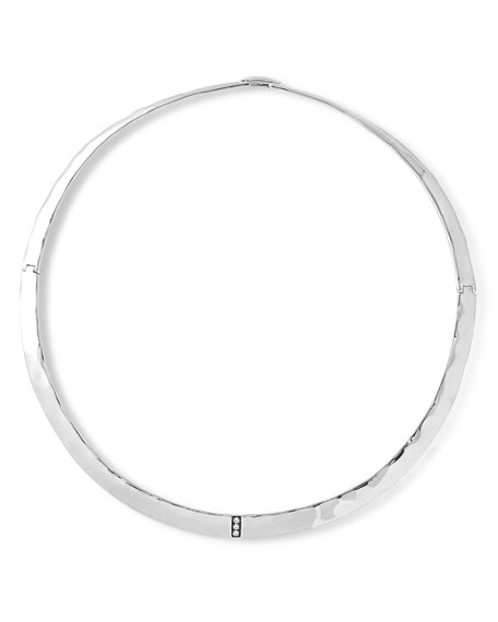 Ippolita Sterling Silver Senso?? Collar Necklace with Diamonds