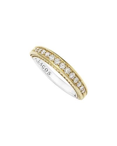 Pave Diamond Stacking Ring, Size 7