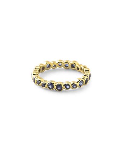 18k Glamazon Stardust Bezel-Set Sapphire Starlet Ring