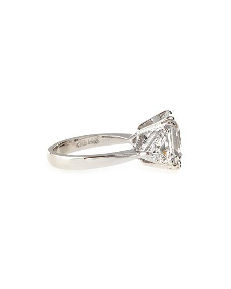 Asscher-Cut Cubic Zirconia Ring