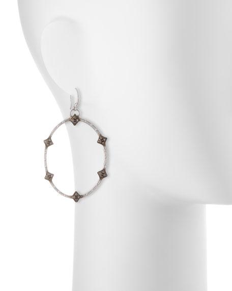 New World Open Oval Diamond Earrings