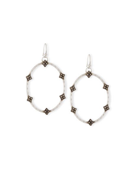Armenta New World Open Oval Diamond Earrings