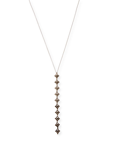 Image 1 of 2: Armenta New World Champagne Diamond Drop Necklace