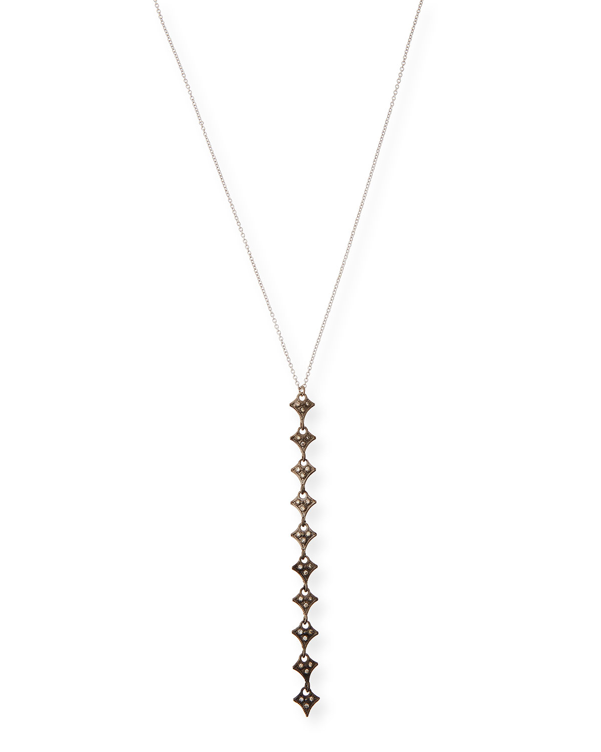 Armenta New World Champagne Diamond Drop Necklace