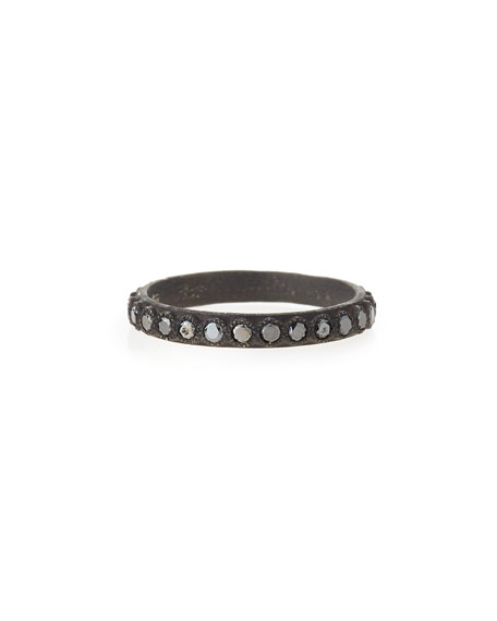 Armenta Black Diamond Stackable Band Ring