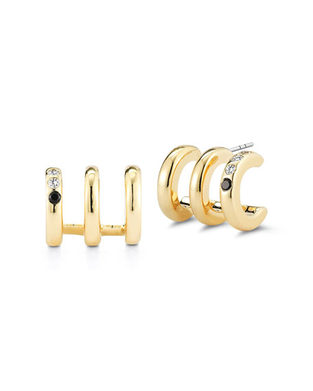 Tonto Ollie Triple Open Hoop Earrings