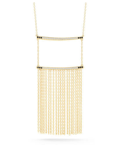Ollie Vago Chain Fringe Necklace