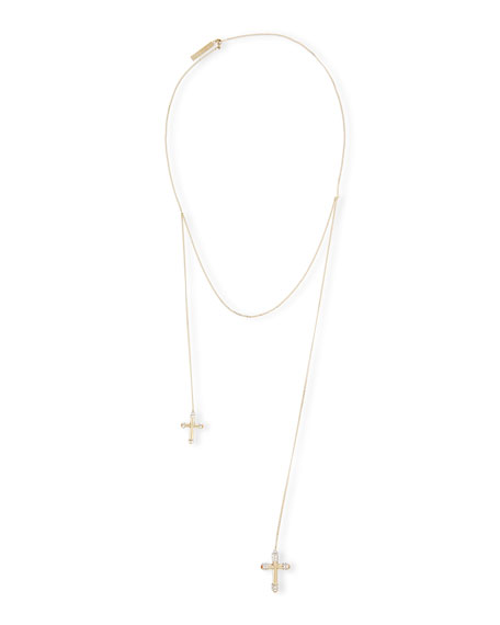 Givenchy Double-Cross Pearl Necklace