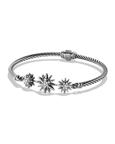 David Yurman 3mm Starburst Diamond Bracelet