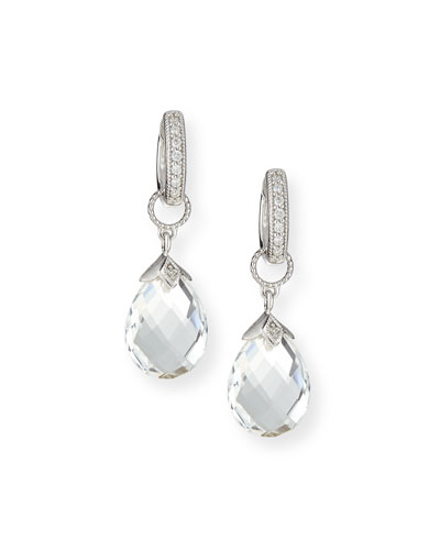 18k White Gold Briolette Earring Charms