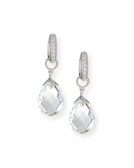 JudeFrances Jewelry 18k White Gold Briolette Earring Charms