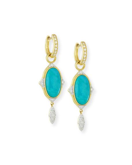 JudeFrances Jewelry 18K Large Moroccan Turquoise & Diamond