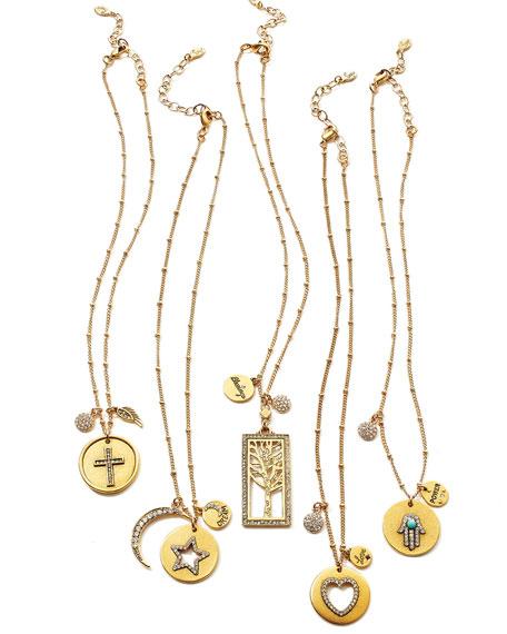 22K Gold-Plated Talisman Pendant Necklace