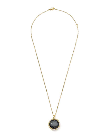 Lollipop Hematite Doublet Pendant Necklace
