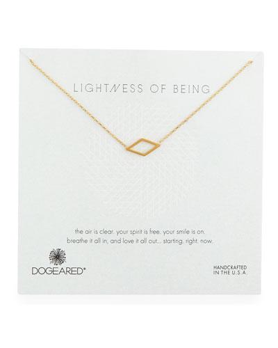 Lightness of Being Diamond-Shaped Pendant Necklace