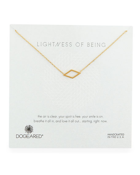 Dogeared Lightness of Being Diamond-Shaped Pendant Necklace