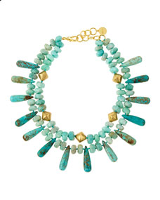 NEST Jewelry Amazonite and Turquoise Double-Strand Necklace